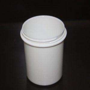 Pot blanc - accessoire de laboratoire médical